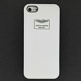 Накладка iPhone 5 Aston Martin кожа (белая)
